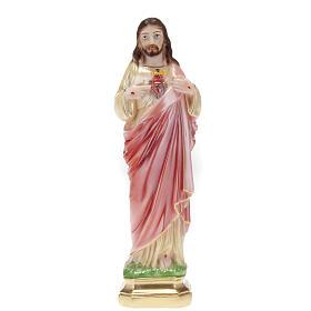 Statua Sacro Cuore di Gesù gesso 30 cm s1