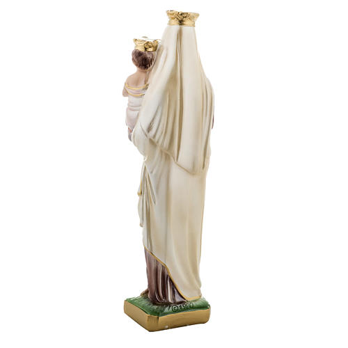 Statua Madonna del Carmine gesso 30 cm 4