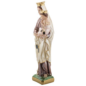Our Lady of Carmel, pearlized plaster statue, 30 cm s3