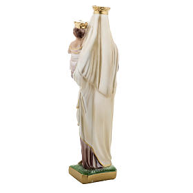 Our Lady of Carmel, pearlized plaster statue, 30 cm s4