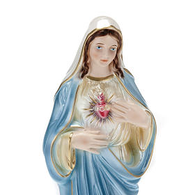 Sacred Heart of Mary, pearlized plaster statue, 30 cm s2