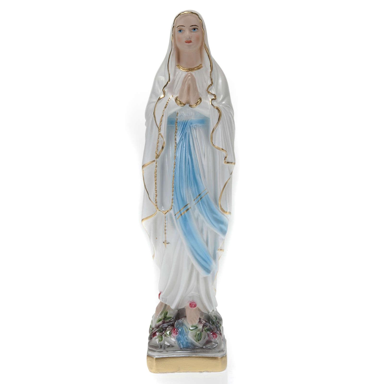 Statua Madonna di Lourdes gesso 30 cm 4