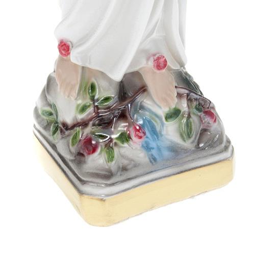 Statua Madonna di Lourdes gesso 30 cm 3