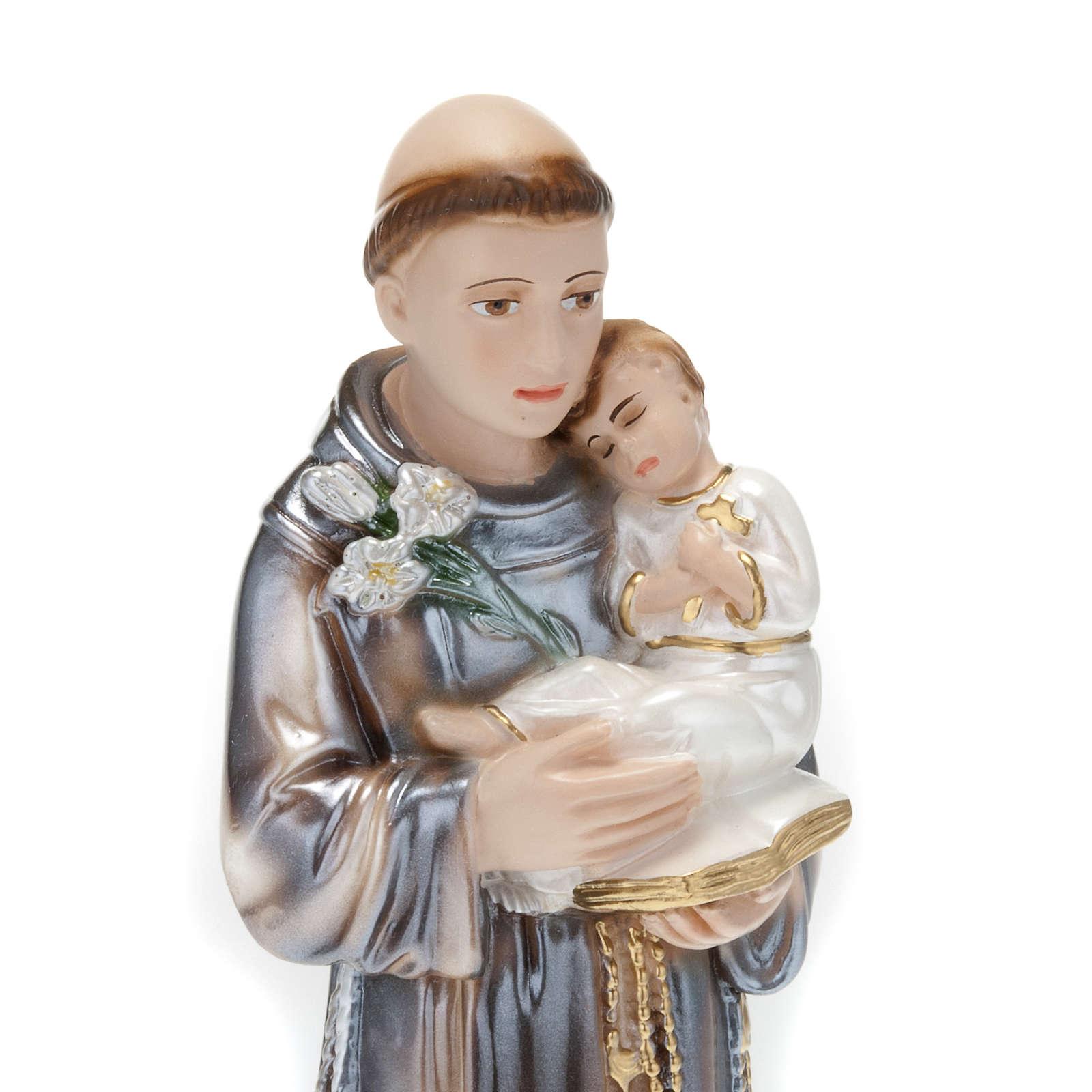 Statua Sant'Antonio con bambino gesso 30 cm 4
