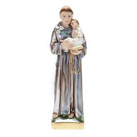 Statua Sant'Antonio con bambino gesso 30 cm s1