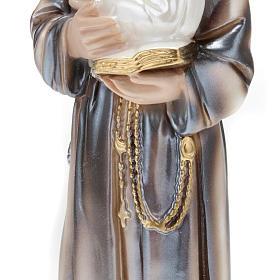 Statua Sant'Antonio con bambino gesso 30 cm s3