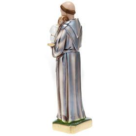 Statua Sant'Antonio con bambino gesso 30 cm s4