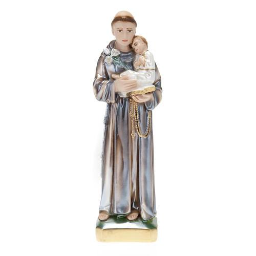 Statua Sant'Antonio con bambino gesso 30 cm 1