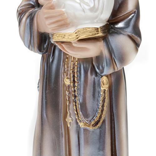 Statua Sant'Antonio con bambino gesso 30 cm 3