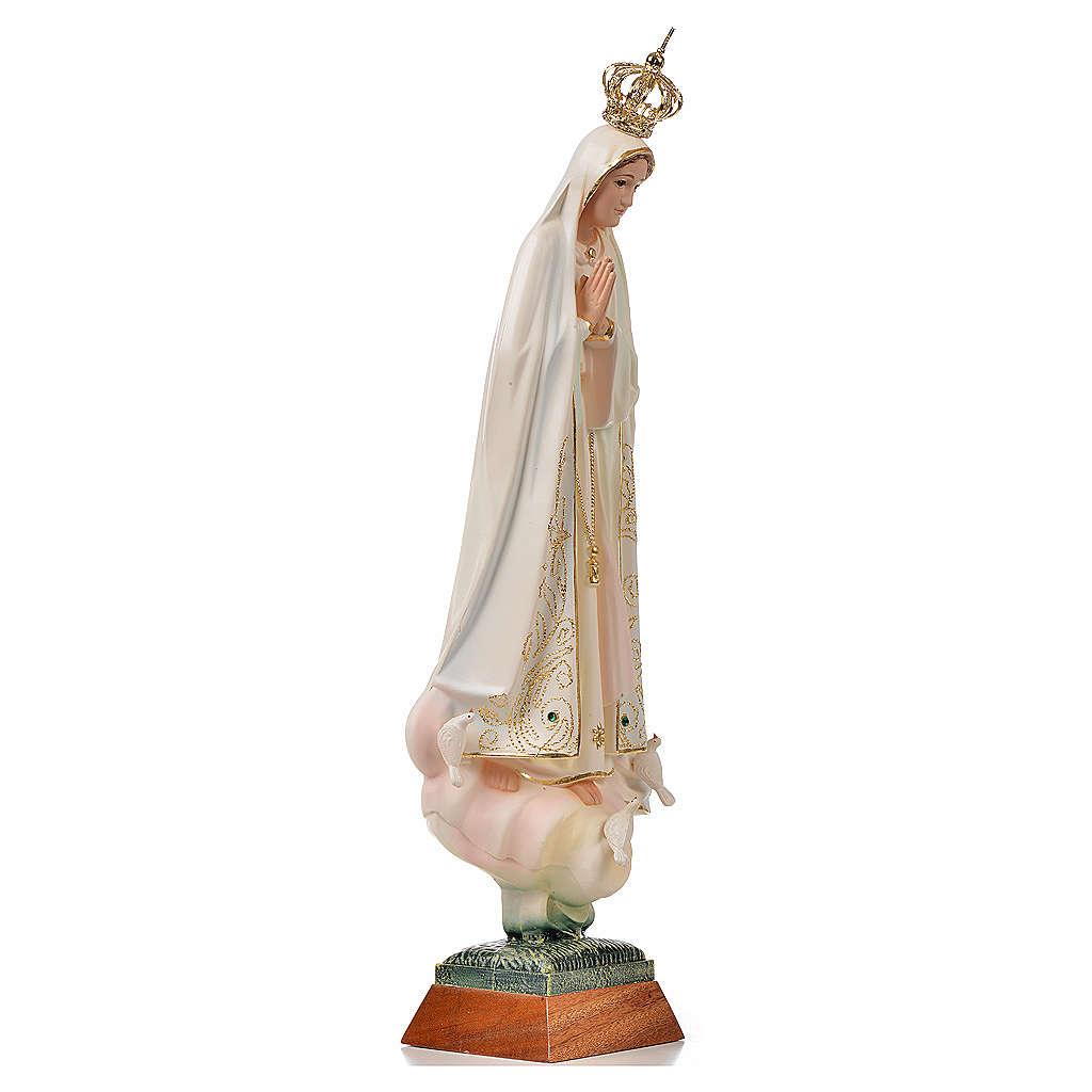 Statue Notre Dame de Fatima avec colombe peinte 45 cm 4