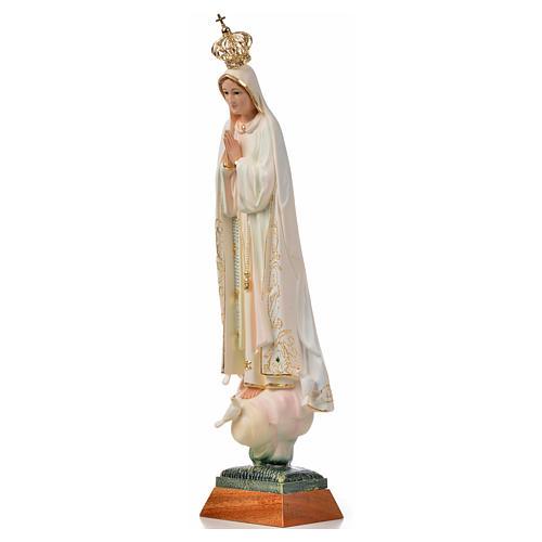 Madonna di Fatima con colombe dipinta 45 cm 6