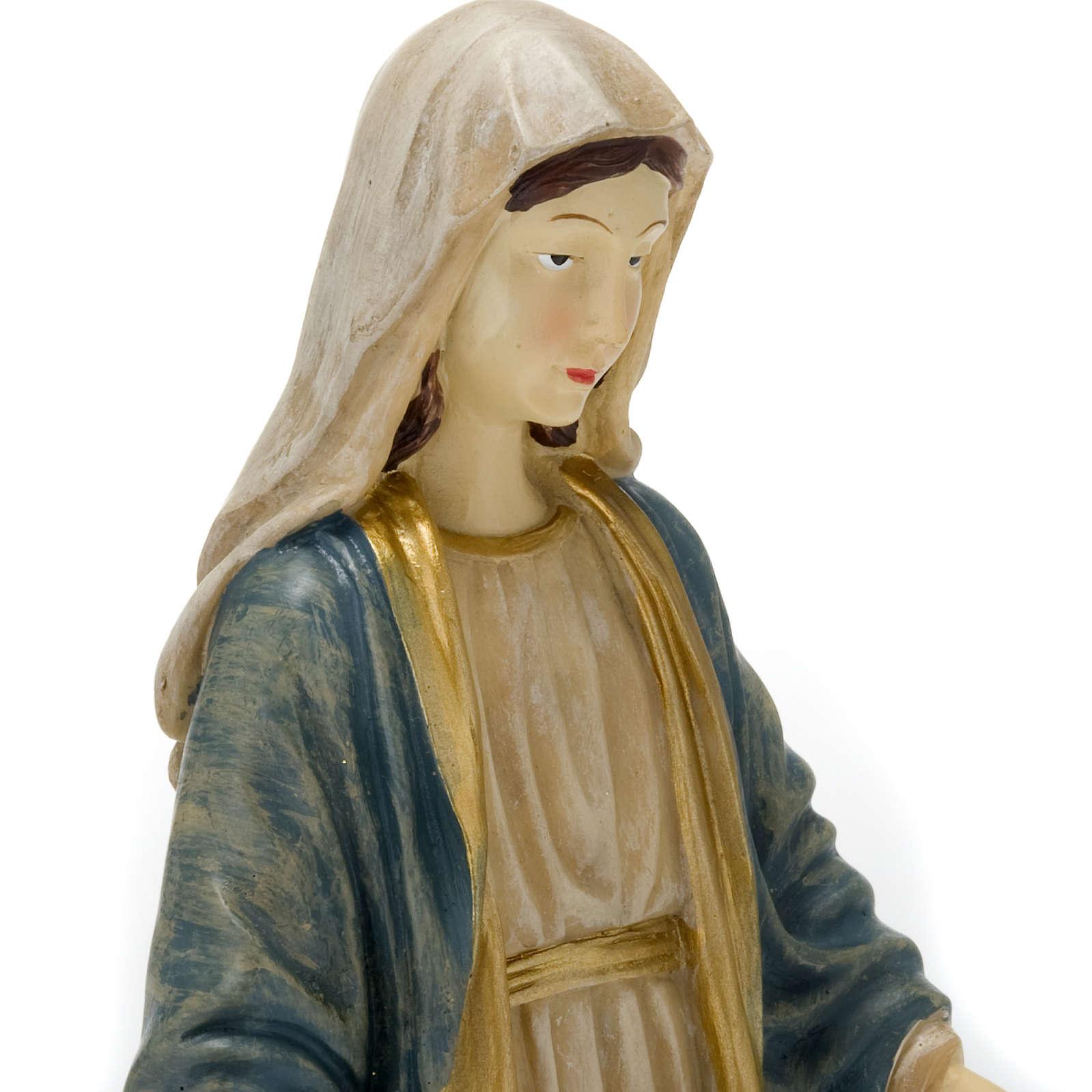 Statua della Madonna Miracolosa resina colorata 40 cm 4