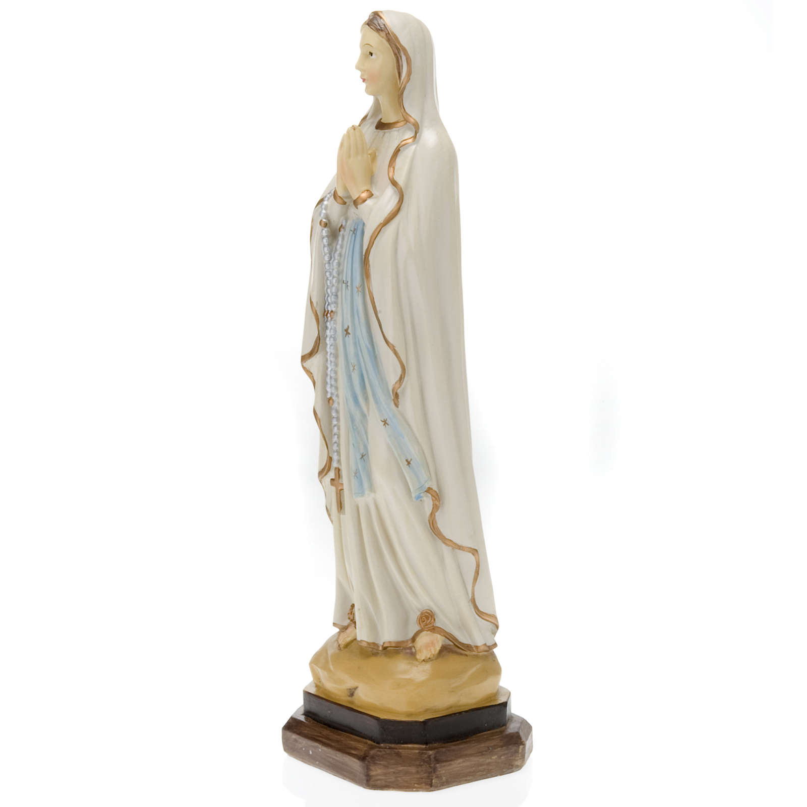 Statua Madonna di Lourdes resina colorata 40 cm 4