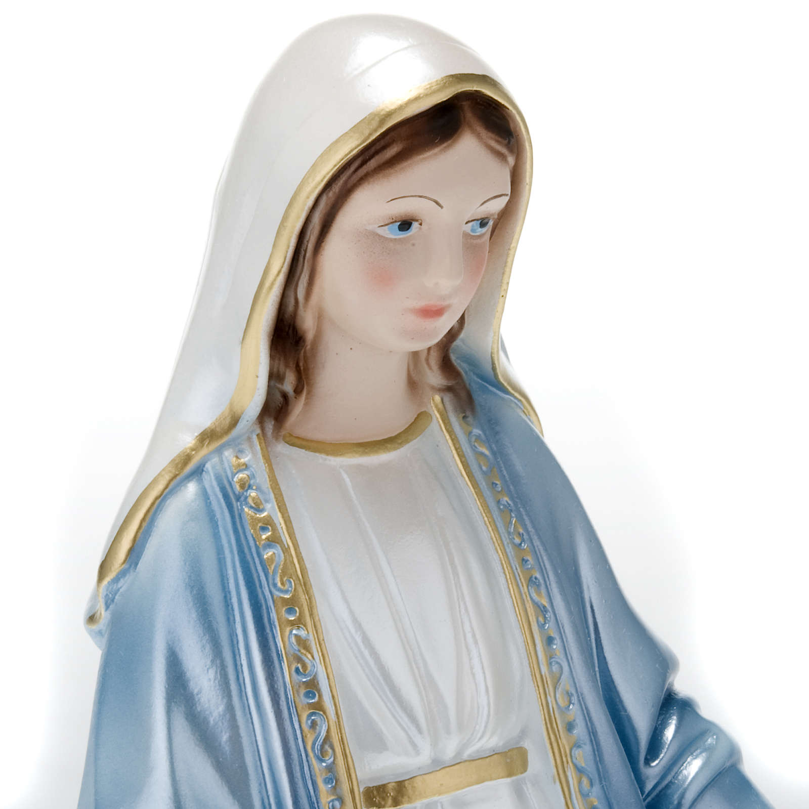 Our Lady of Miracles, pearlized plaster statue, 30 cm 4