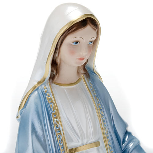 Our Lady of Miracles, pearlized plaster statue, 30 cm 2