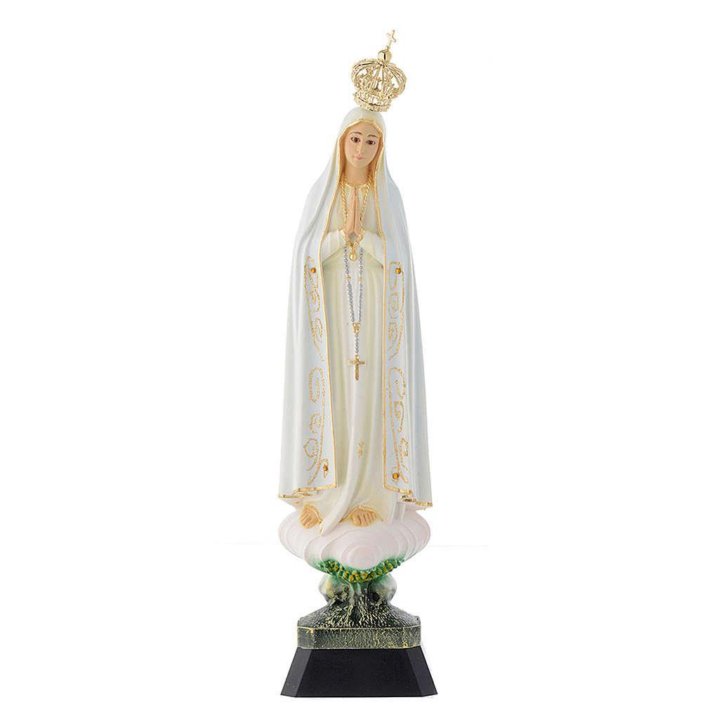 Statua Madonna Fatima corona occhi cristallo 35 cm 4