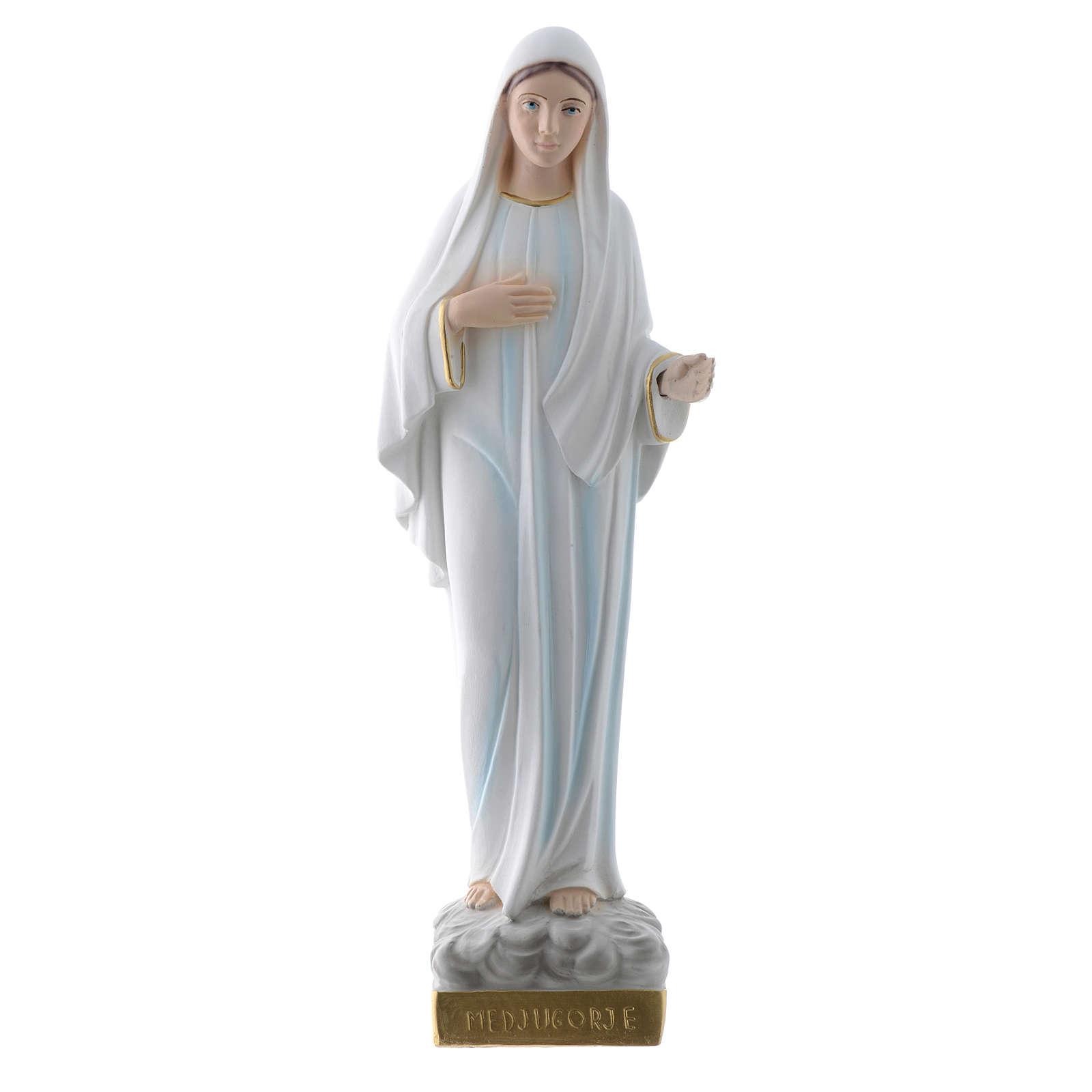 Statue Notre Dame de Medjugorje plâtre 30 cm 4