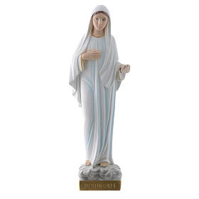 Our Lady of Medjugorje statue in plaster, 30 cm s1