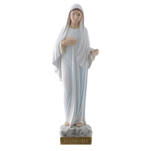 Our Lady of Medjugorje statue in plaster, 30 cm 1