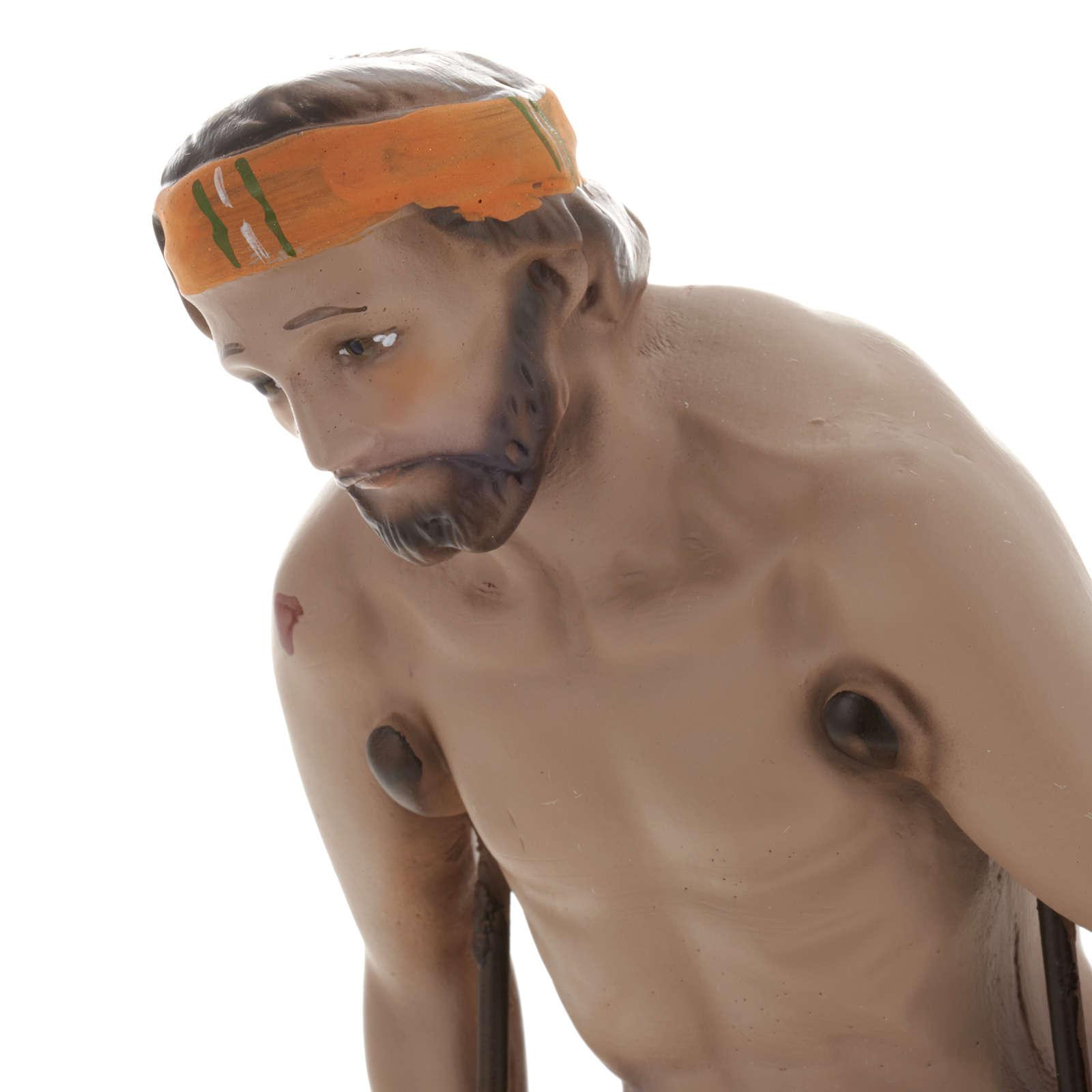 Statua San Lazzaro 30 cm gesso 4