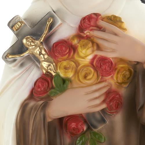 Statue Sainte Theresa plâtre 60 cm 3