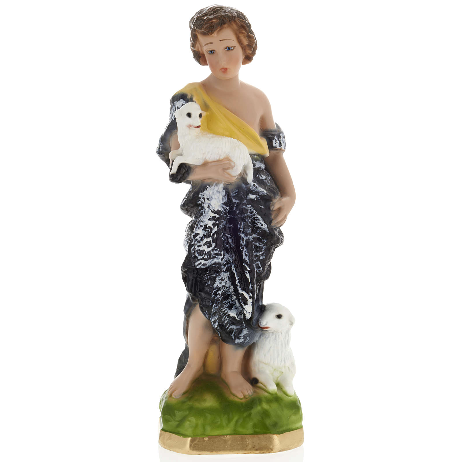 Infant St John the Baptist statue in plaster, 30 cm 4