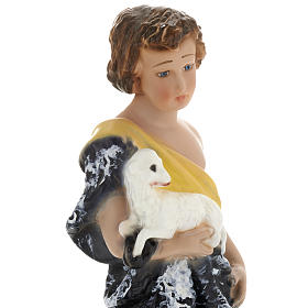 Infant St John the Baptist statue in plaster, 30 cm s2