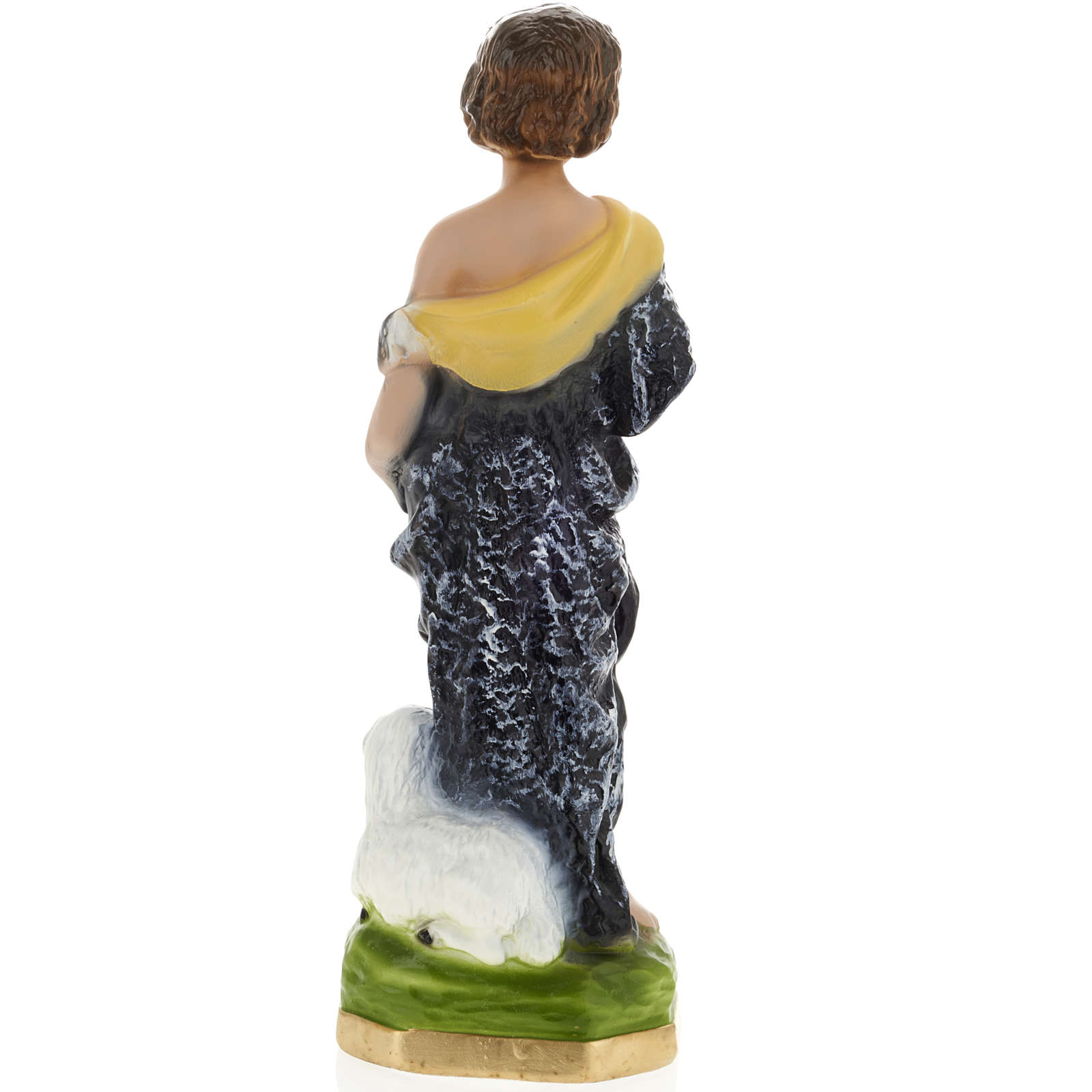 Estatua Sann Juan Bautista niño 30cm. yeso 4