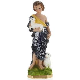 Statue St Jean Baptiste enfant plâtre 30 cm s1