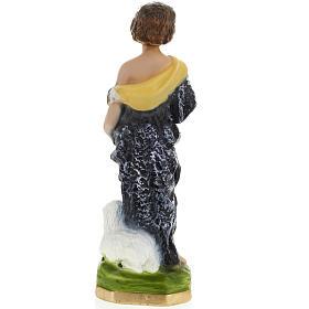 Statue St Jean Baptiste enfant plâtre 30 cm s4