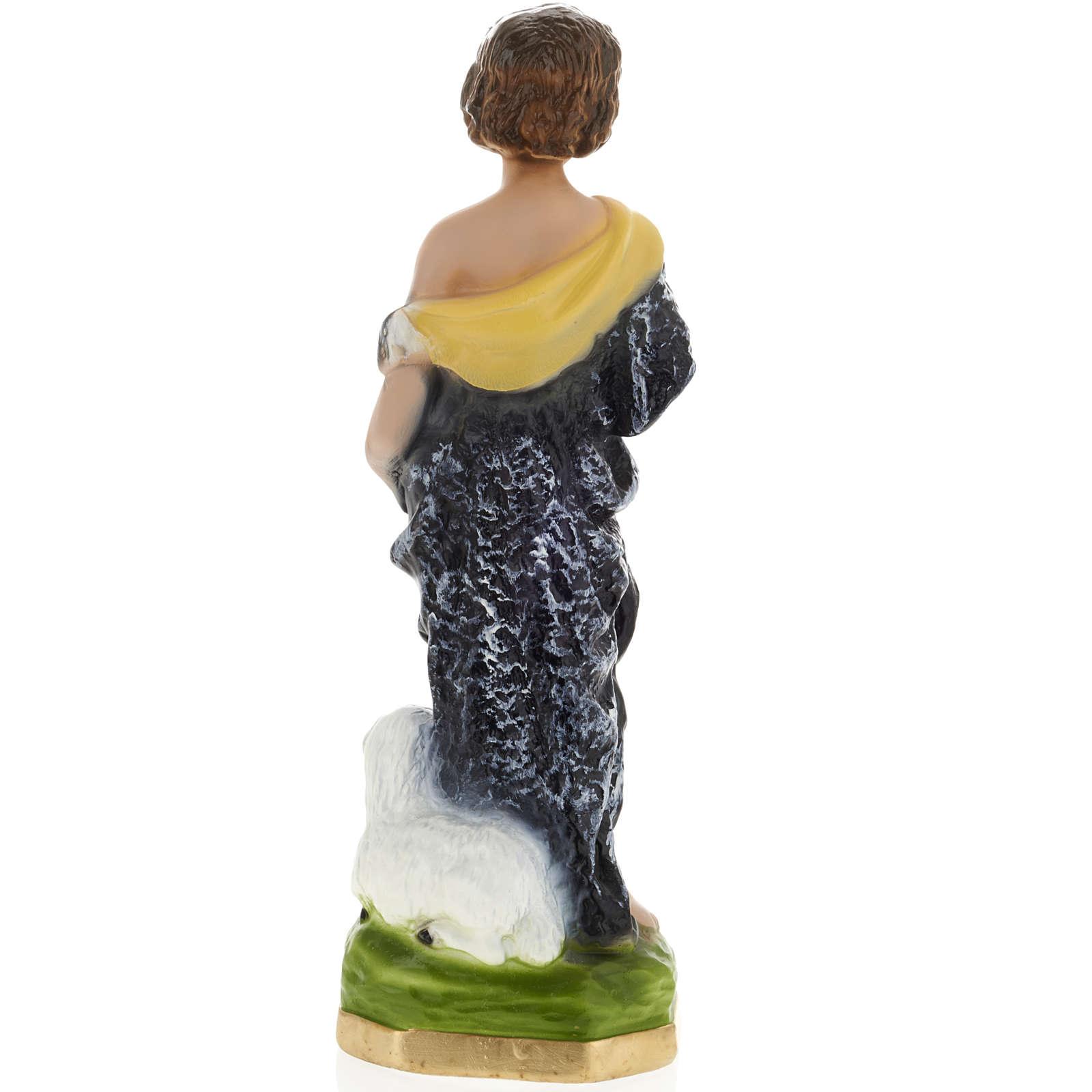 Statua San Giovanni Battista bambino 30 cm gesso 4