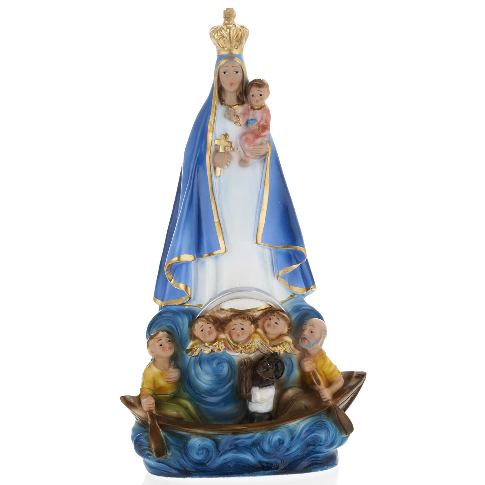 Our Lady of Cobre statue in plaster, 30 cm 4