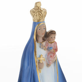 Our Lady of Cobre statue in plaster, 30 cm s2