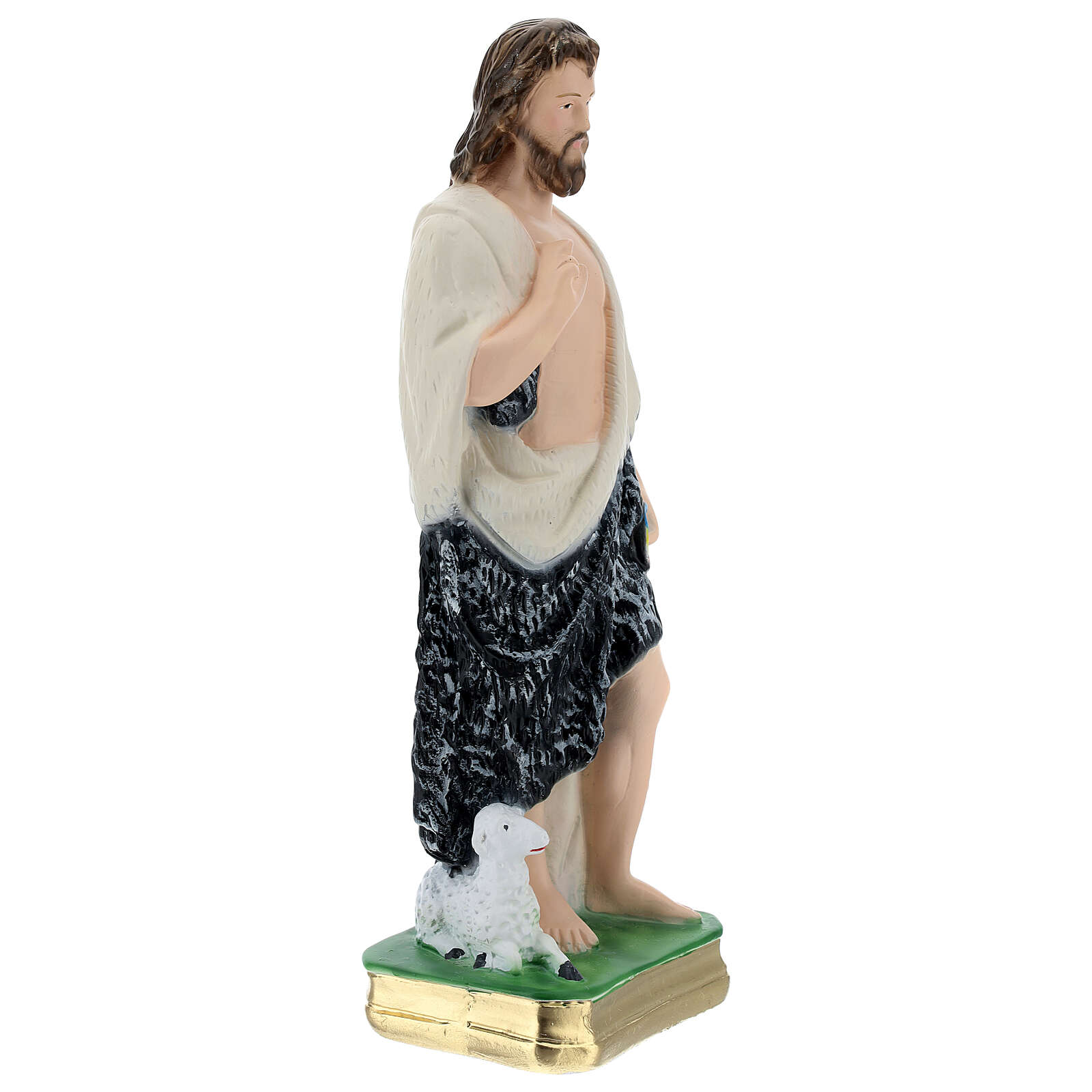 Saint John the Baptist statue in plaster, 30 cm 4