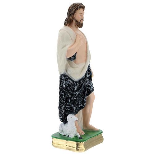 Saint John the Baptist statue in plaster, 30 cm 3