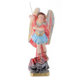 Statua San Michele Arcangelo 30 cm gesso s1