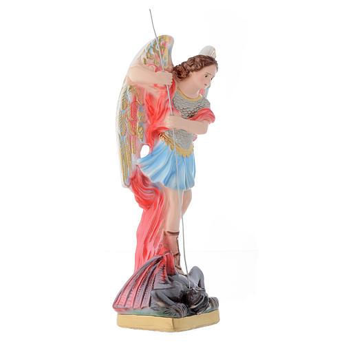 Statua San Michele Arcangelo 30 cm gesso 3