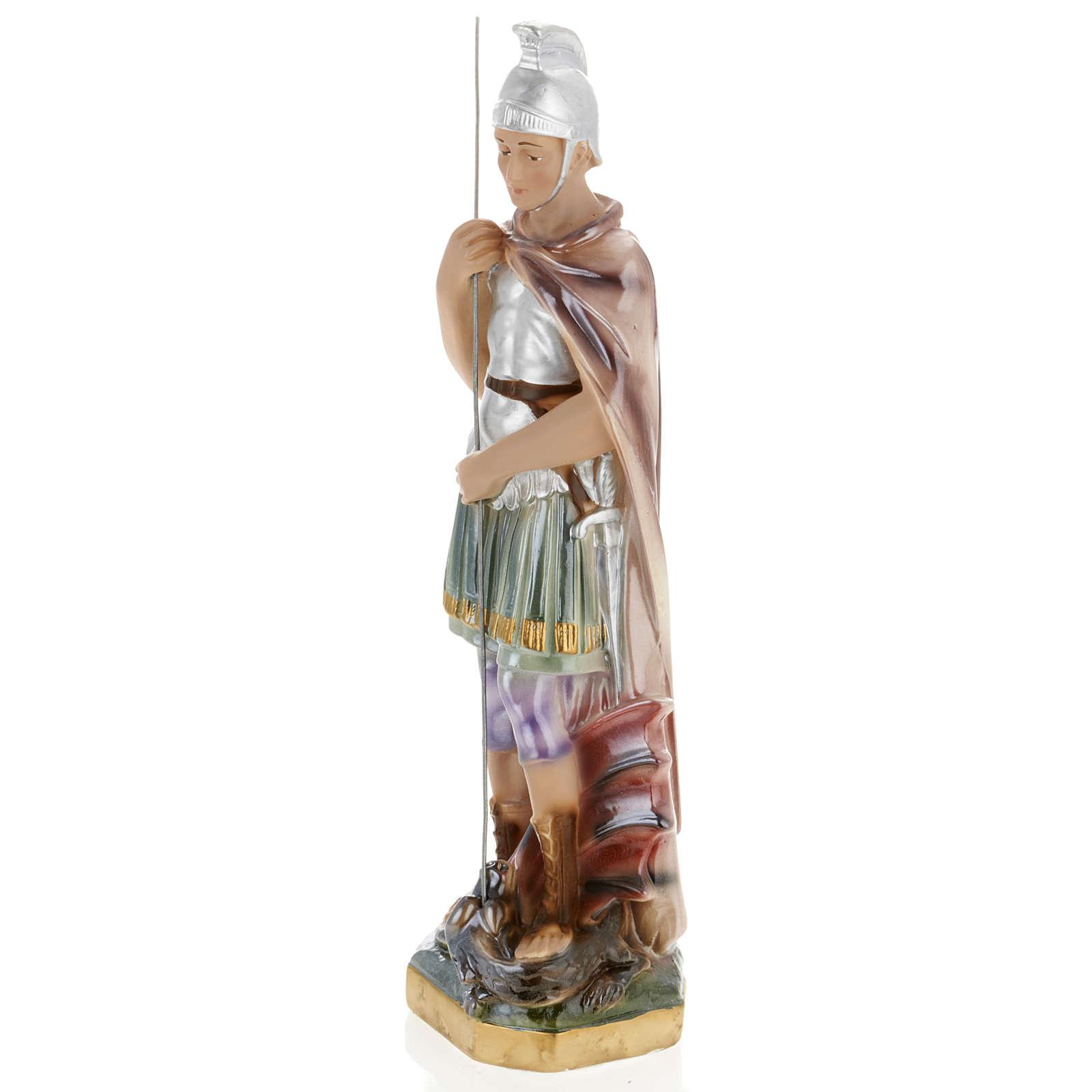 Statua San Giorgio 30 cm gesso 4