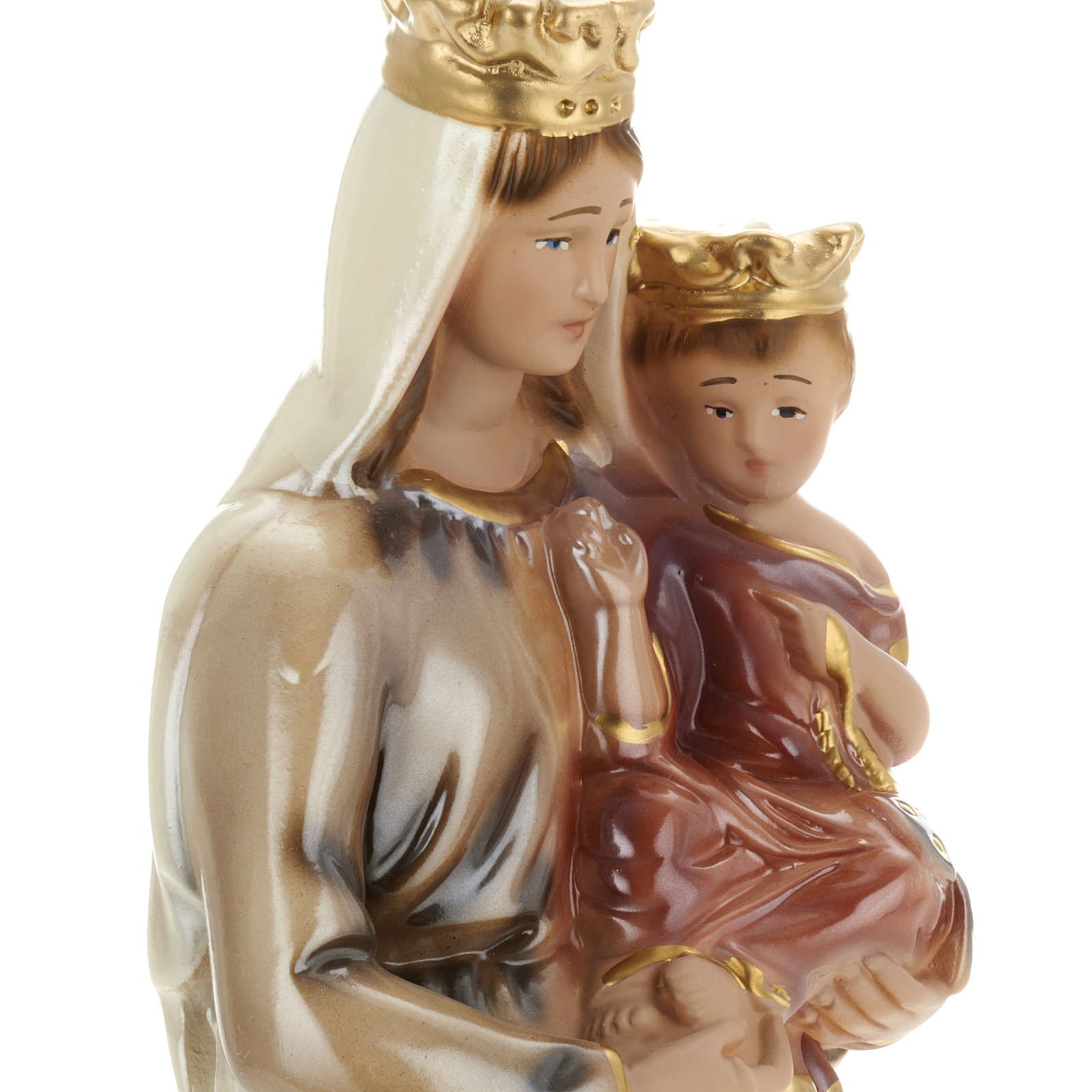 Our Lady of Mt Carmel statue in plaster, 30 cm 4