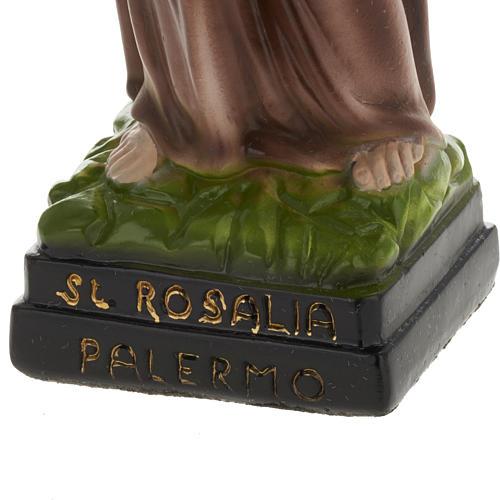 Statua Santa Rosalia 30 cm gesso 3