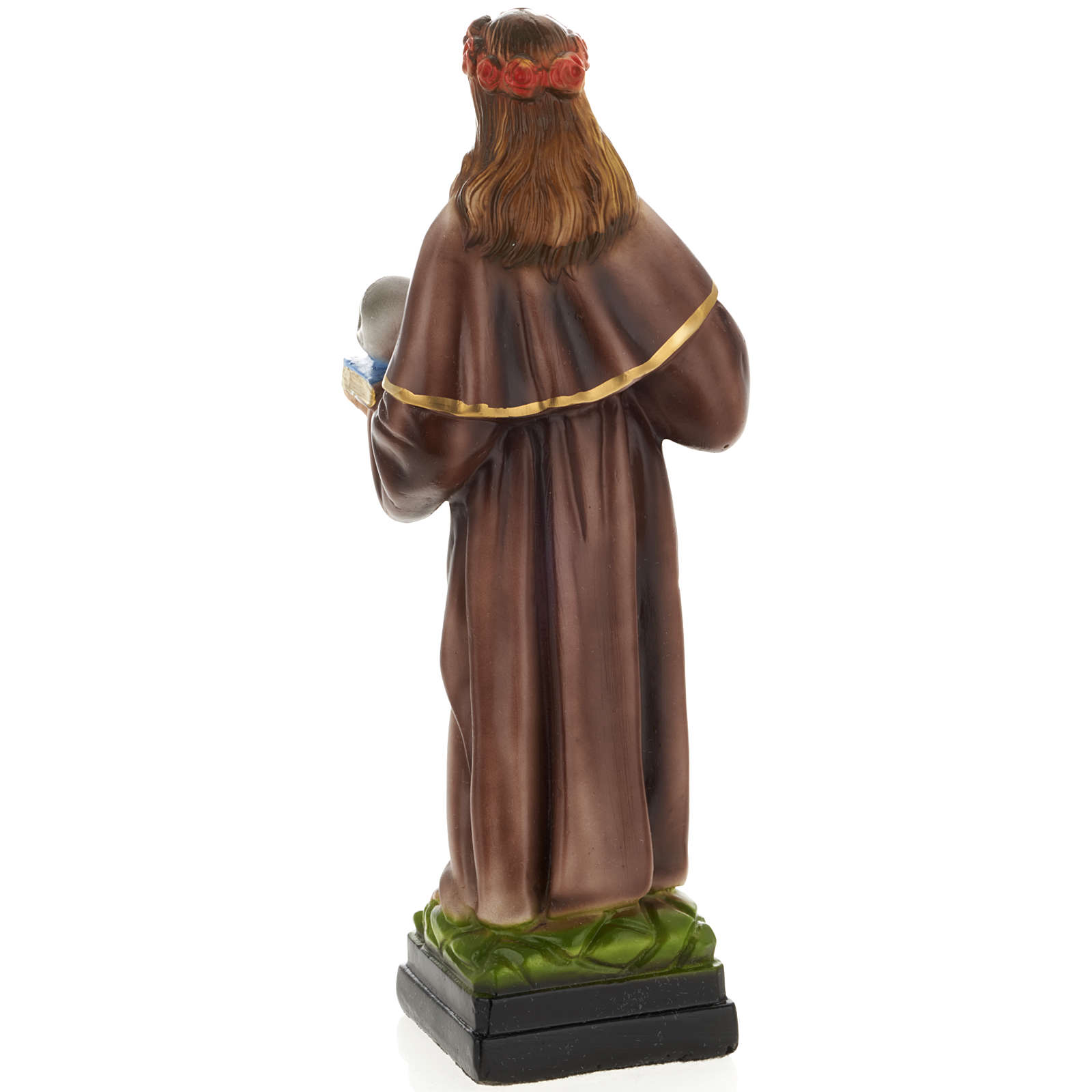 Saint Rosalia statue in plaster, 30 cm 4