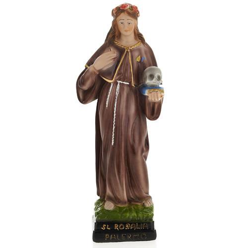 Saint Rosalia statue in plaster, 30 cm 1