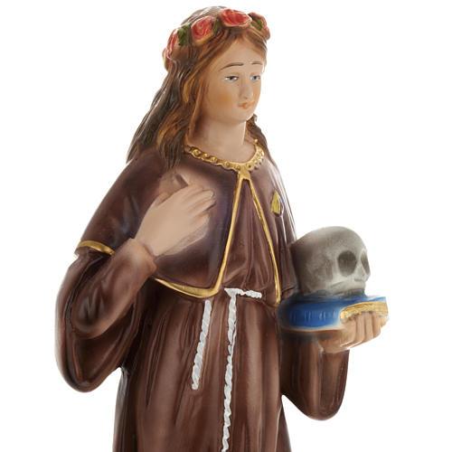 Saint Rosalia statue in plaster, 30 cm 2
