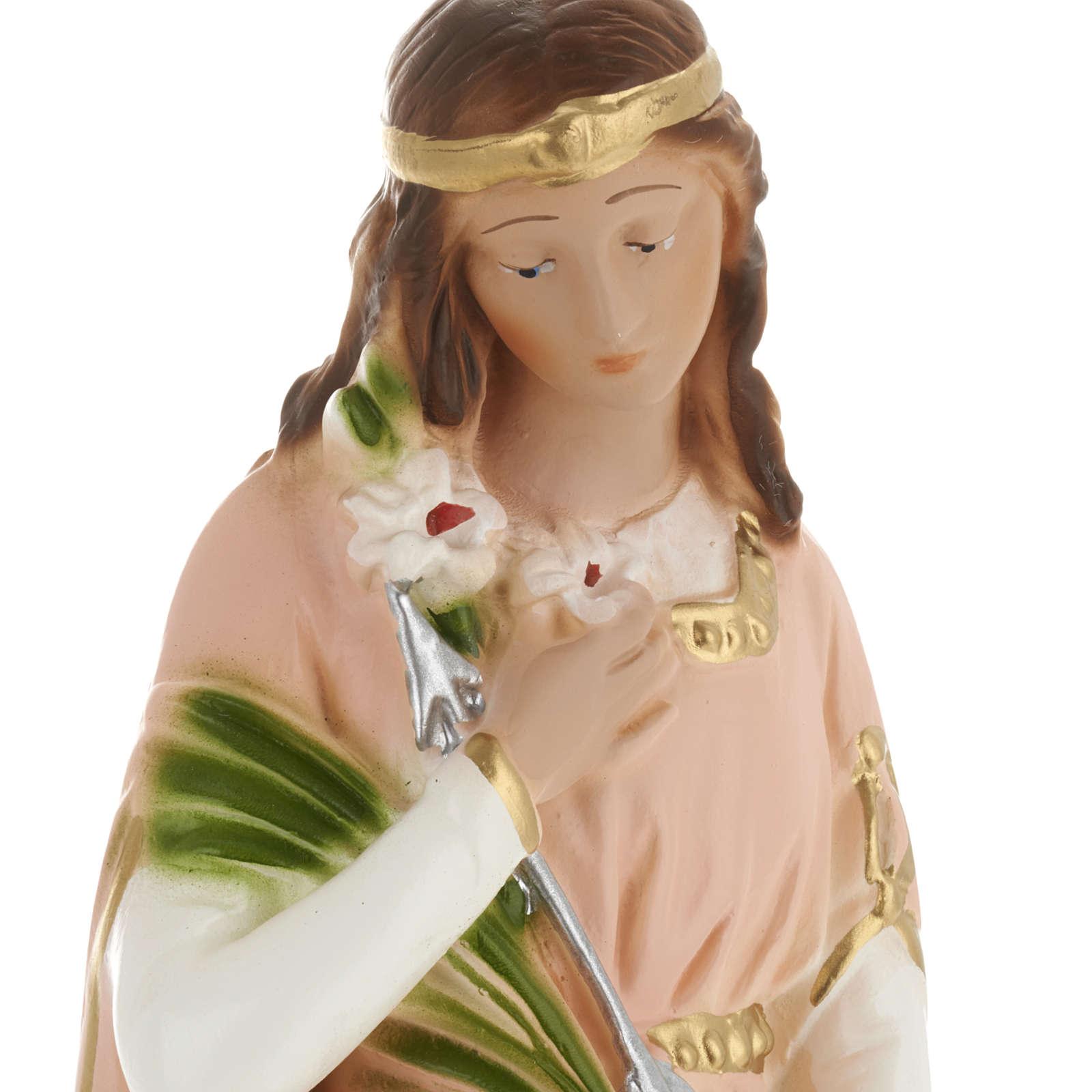 Saint Philomena statue in plaster, 30 cm 4