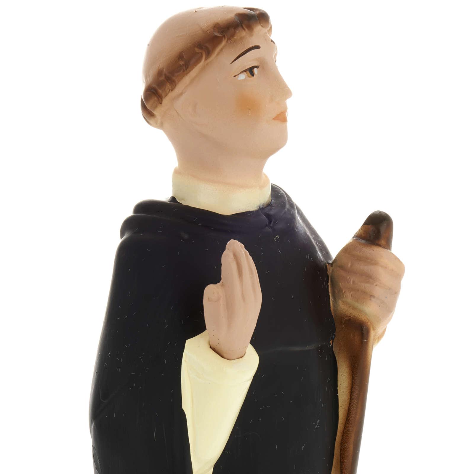 Blessed John of Vercelli statue in plaster, 30 cm 4