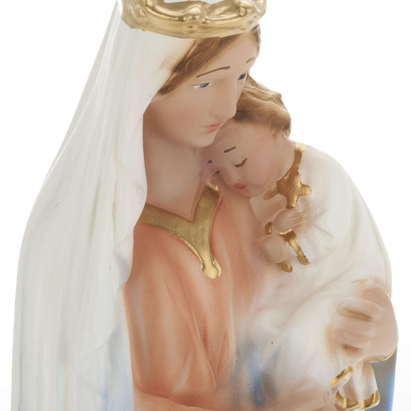 Statua Madonna con bambino 30 cm gesso 4