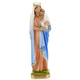 Statua Madonna con bambino 30 cm gesso s1