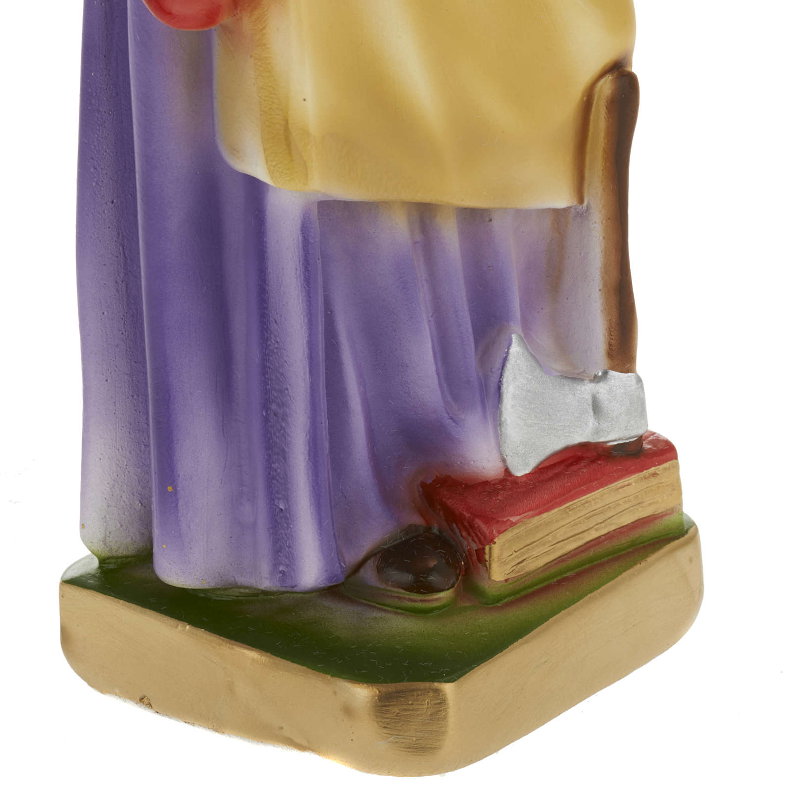 Statua San Giuseppe lavoratore 30 cm gesso 4