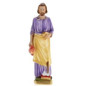 Statua San Giuseppe lavoratore 30 cm gesso s1