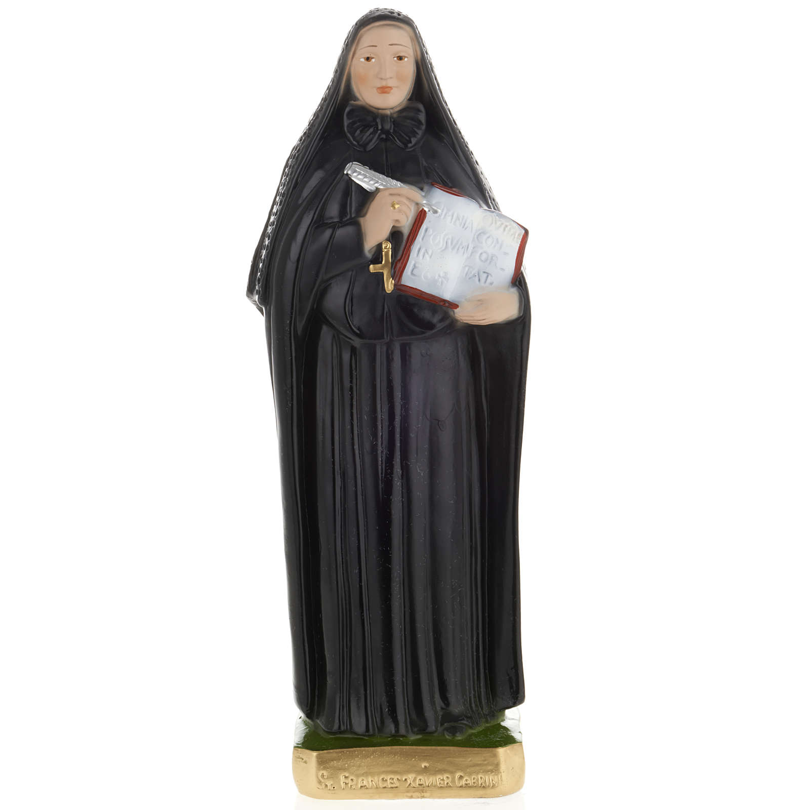 Estatua Santa Francesca Saverio Cabrini 30 cm. yeso 4